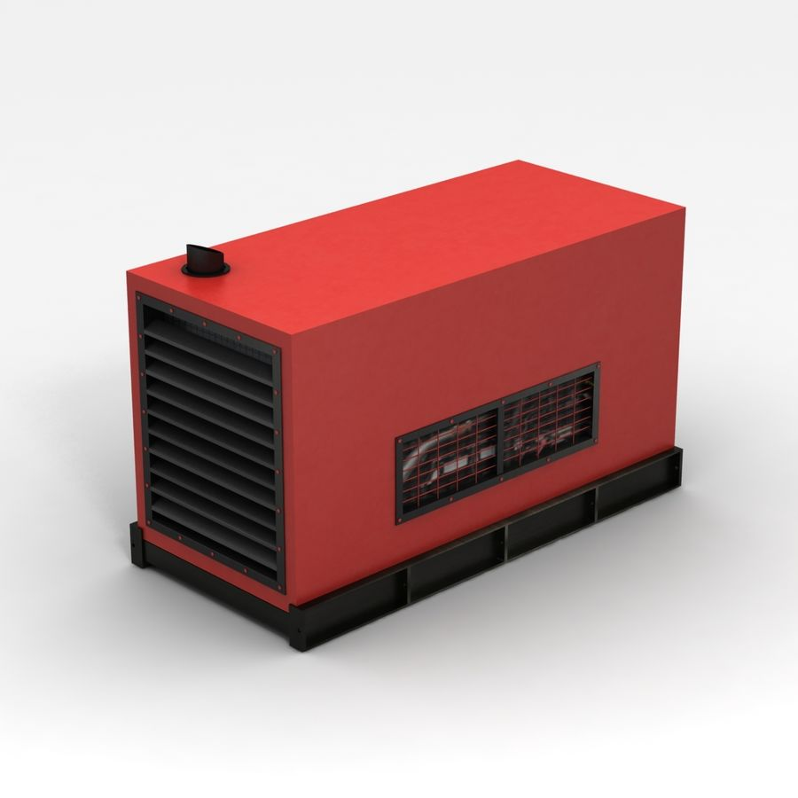 Generator Red royalty-free 3d model - Preview no. 4