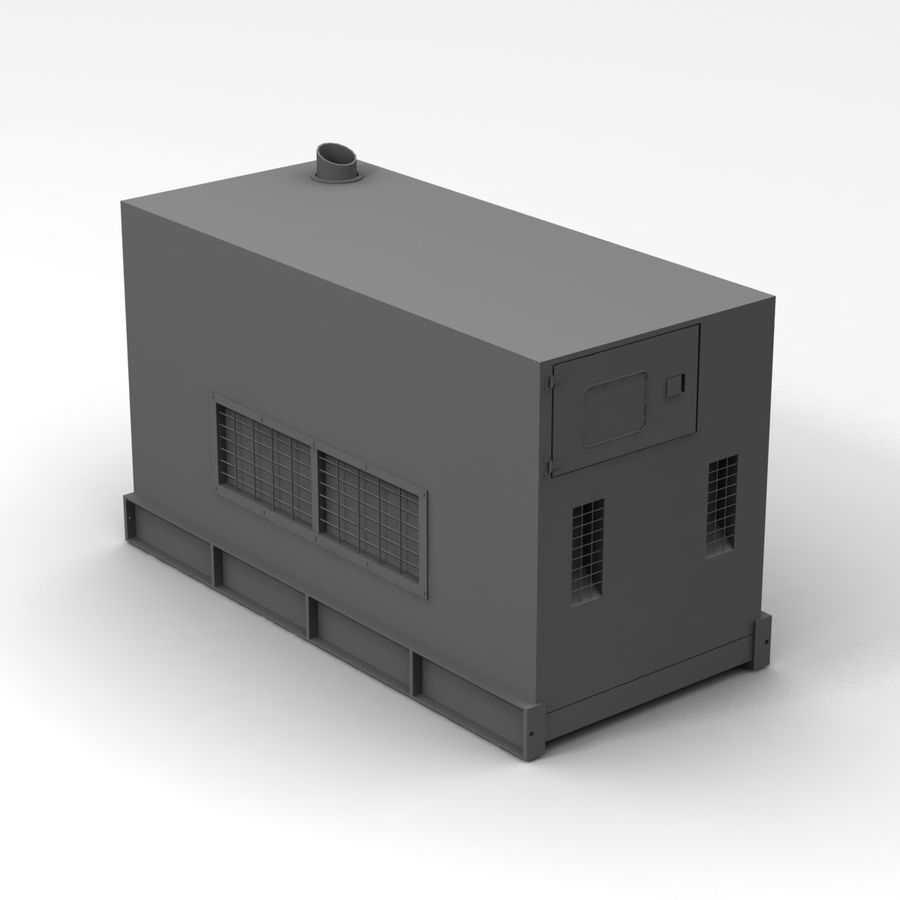 Generator Red royalty-free 3d model - Preview no. 10