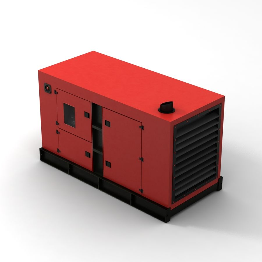 Generator Red royalty-free 3d model - Preview no. 5