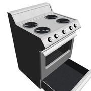 Fogão / forno com porta de abertura e gaveta: formato máximo 3d model