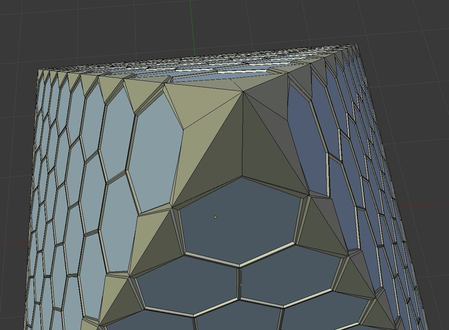 small hexagon pyramid royalty-free 3d model - Preview no. 5