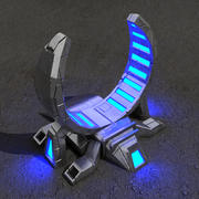 Portal sci-fi building 3d model