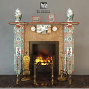 Fireplace China Style 3d model