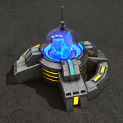 Crystal powerplant sci-fi building 3d model