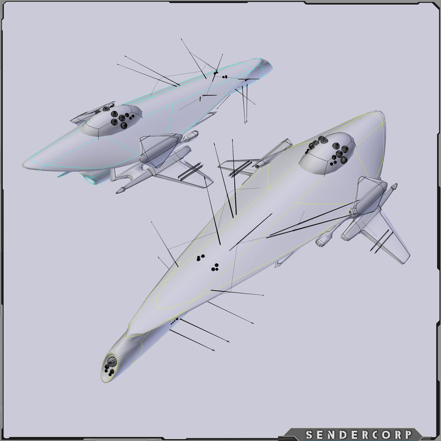 Drone royalty-free 3d model - Preview no. 4