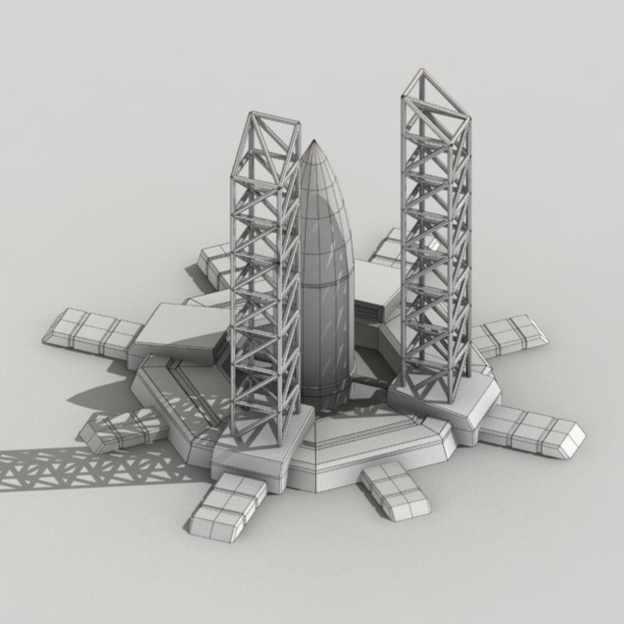 火箭筒仓科幻大楼 royalty-free 3d model - Preview no. 5