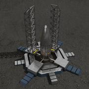 Rocket silo sci-fi building 3d model