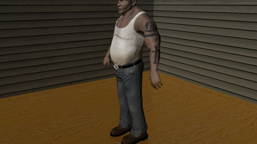 Homme personnage Biker royalty-free 3d model - Preview no. 4