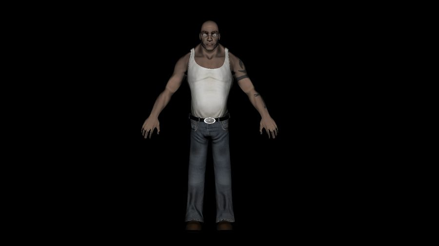 Homme personnage Biker royalty-free 3d model - Preview no. 5