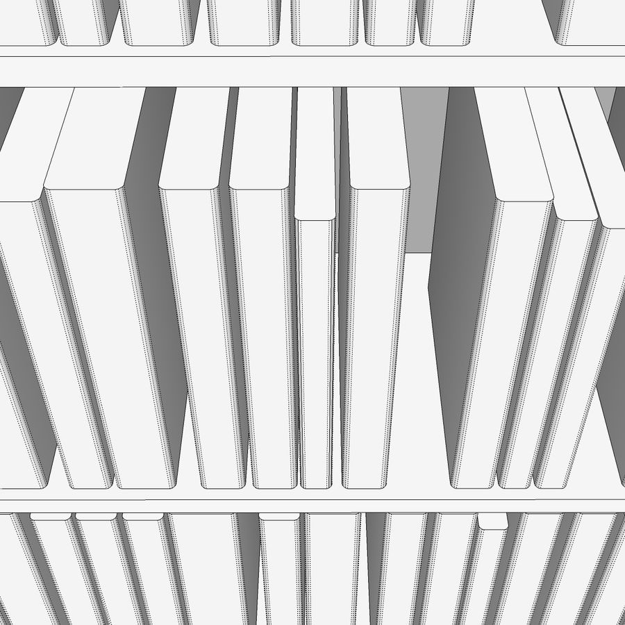 Bookshelf With Books: C4D Format royalty-free 3d model - Preview no. 13