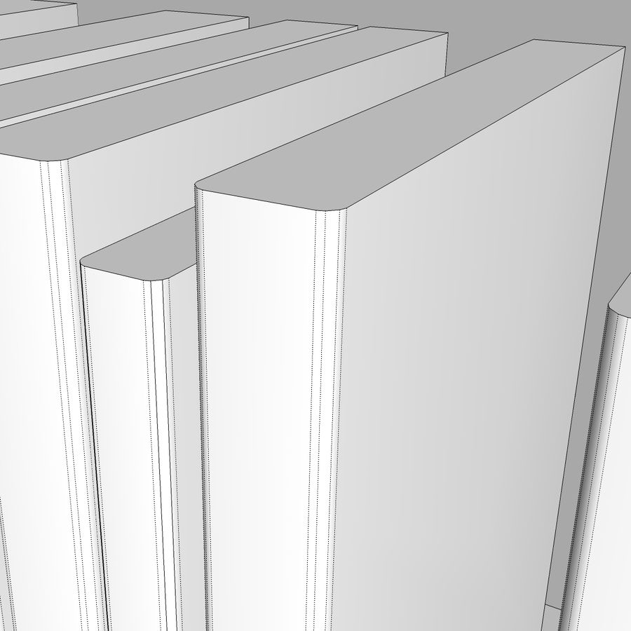 Bookshelf With Books: C4D Format royalty-free 3d model - Preview no. 14