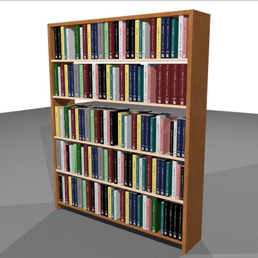 Bookshelf With Books: C4D Format royalty-free 3d model - Preview no. 1