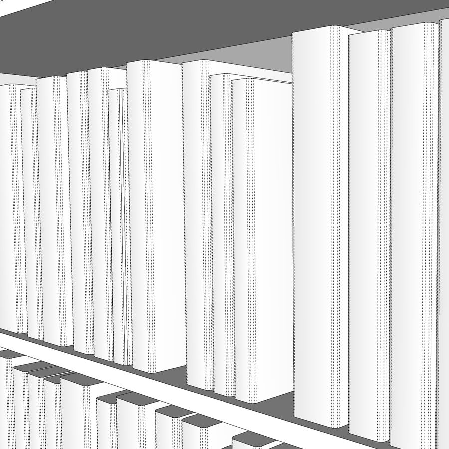 Bookshelf With Books: C4D Format royalty-free 3d model - Preview no. 12