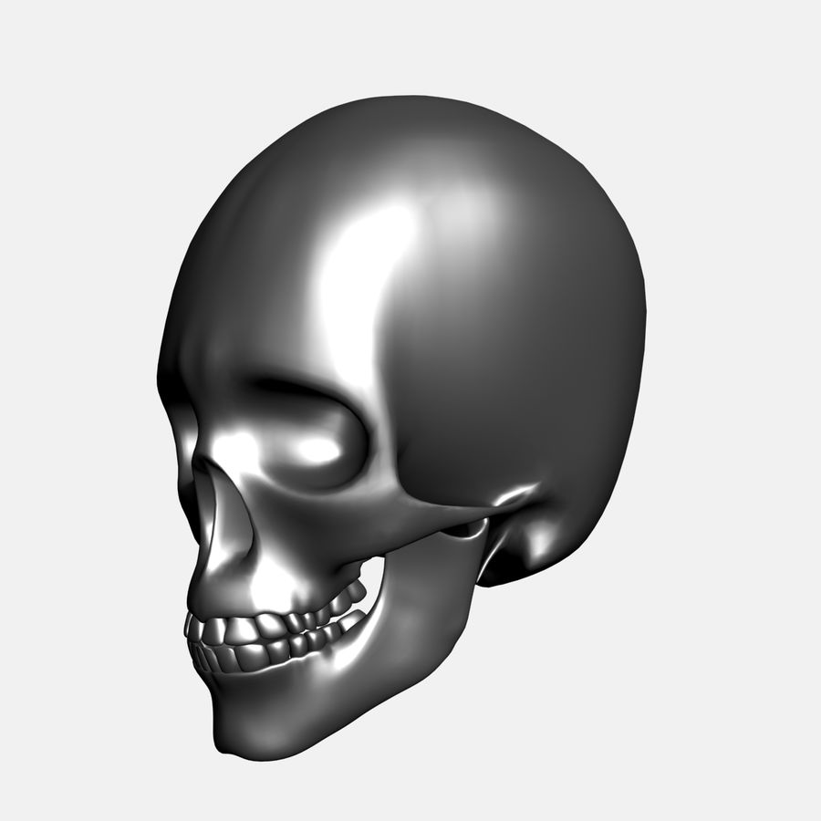Metal Skull royalty-free 3d model - Preview no. 1