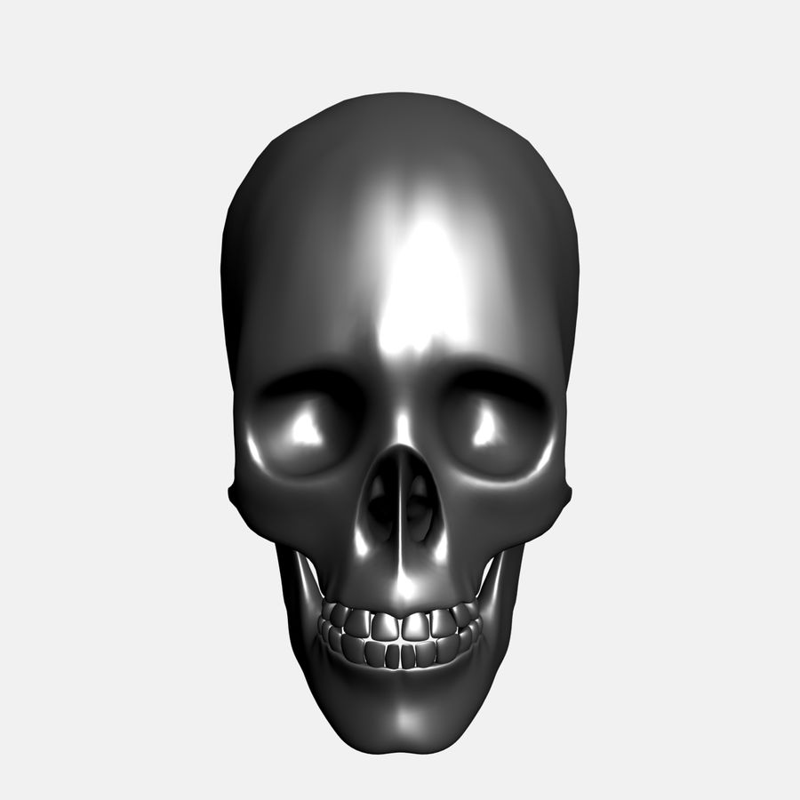 Metal Skull royalty-free 3d model - Preview no. 3