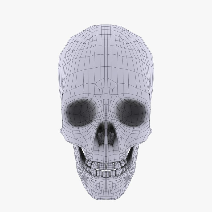 Metal Skull royalty-free 3d model - Preview no. 10