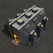 Depot sci-fi building 3d model