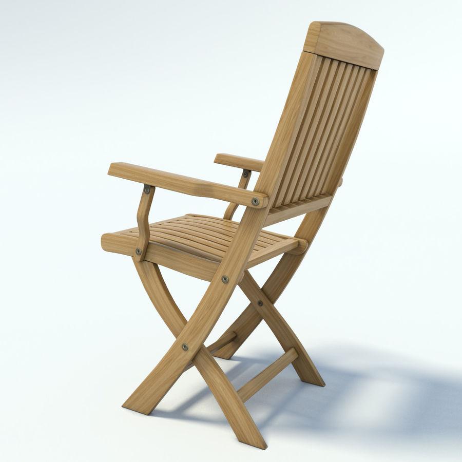 Sedie Legno Da Giardino.Sedia Da Giardino In Legno Realistico Modello 3d 17 Unknown