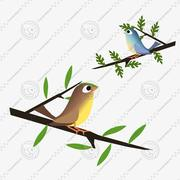 Animated Birds 3d model