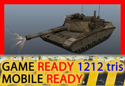 Low poly rusty tank 3d model