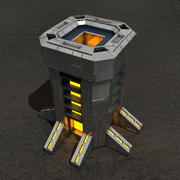 Tower sci-fi building 3d model