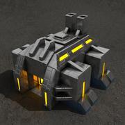 Edifício de ficção científica de fábrica 3d model
