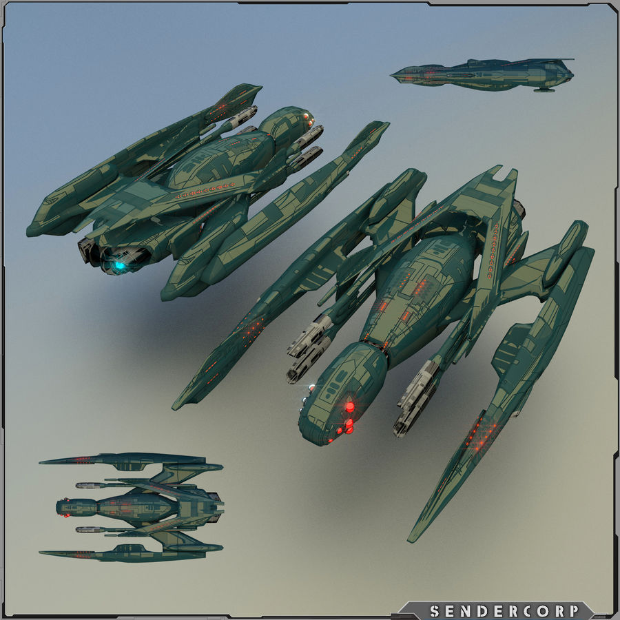 Drone royalty-free 3d model - Preview no. 1