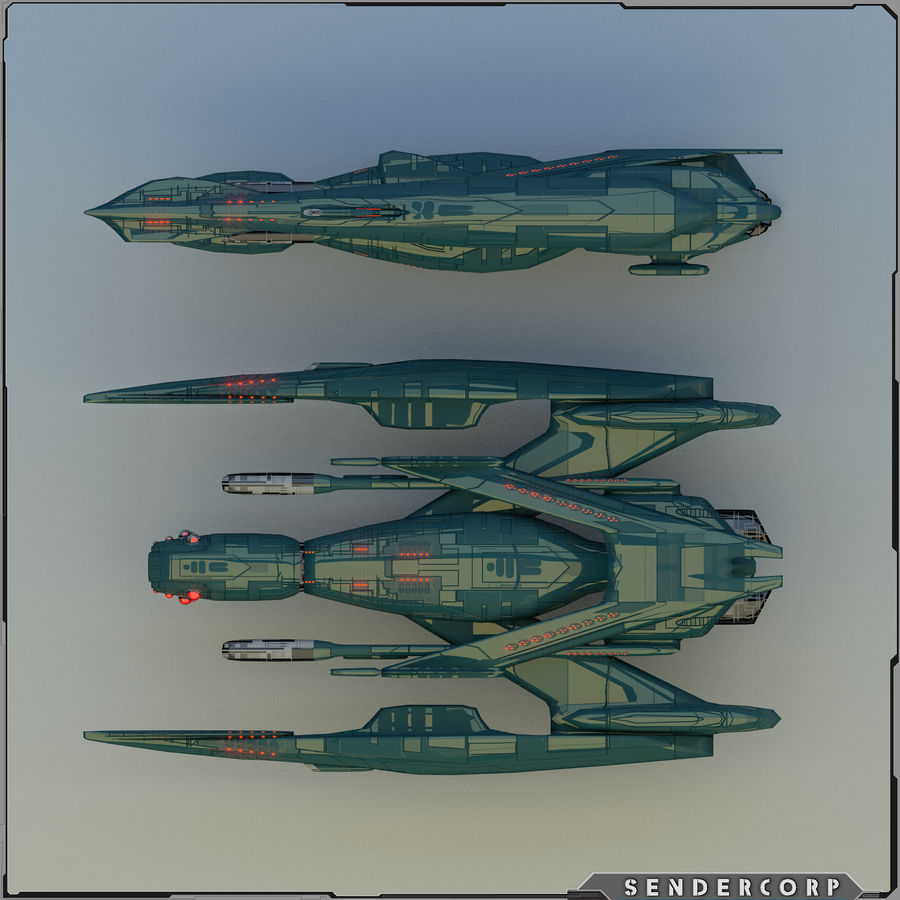 Drone royalty-free 3d model - Preview no. 8