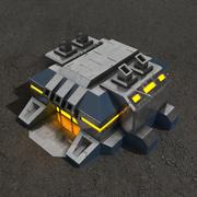 Фабрика v.2 научно-фантастическое здание 3d model