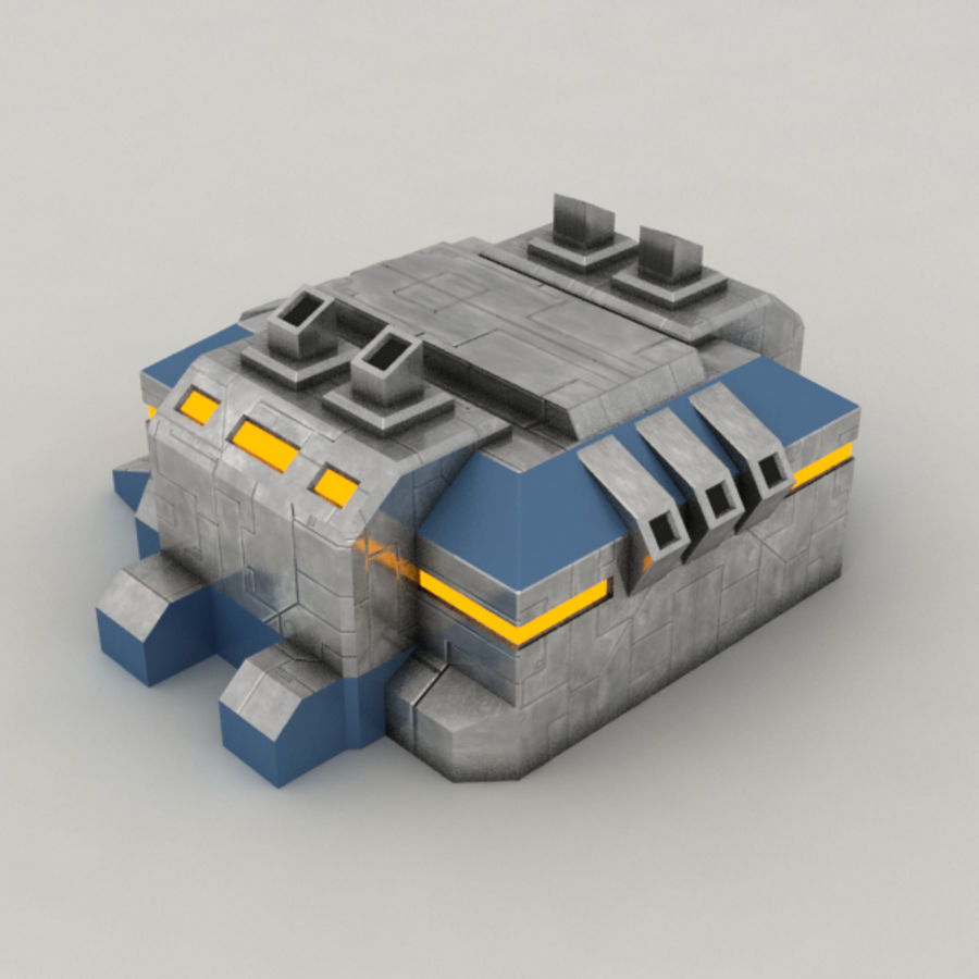 Factory v.2 sci-fi building royalty-free 3d model - Preview no. 5