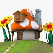Mushroom House 3 (Smurfs) 3d model