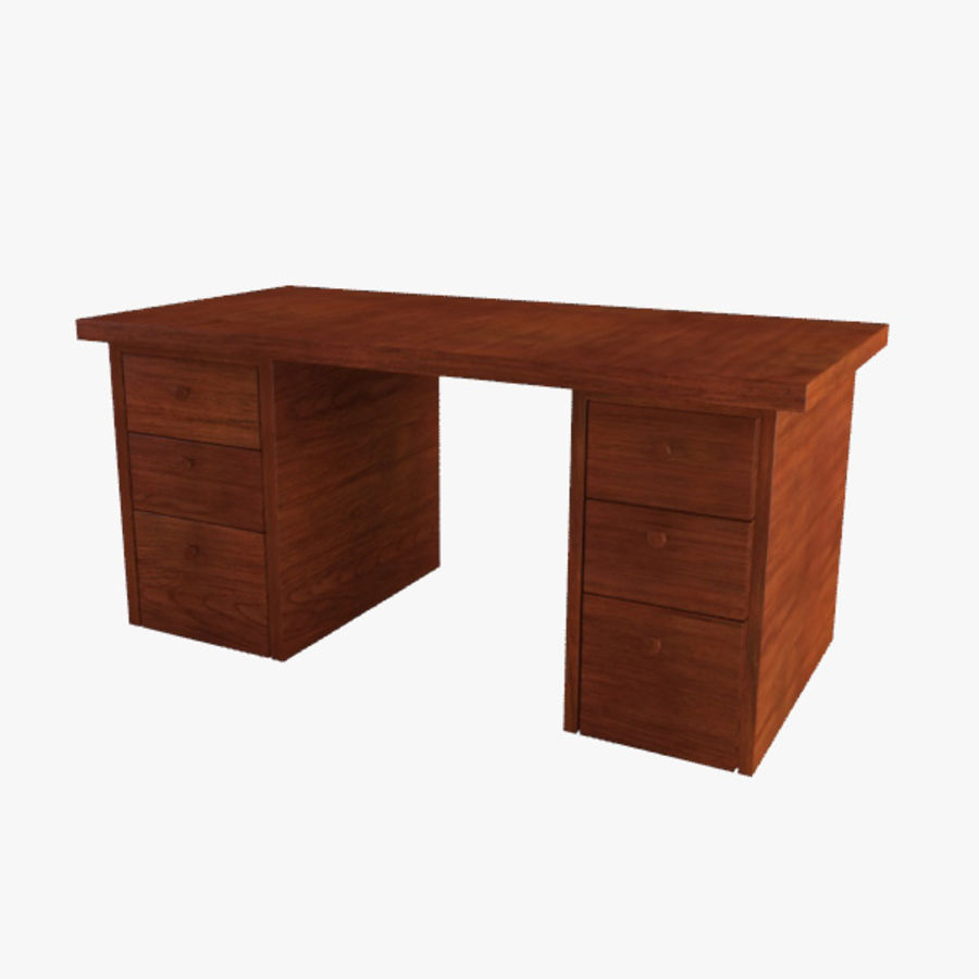 Desk royalty-free 3d model - Preview no. 4