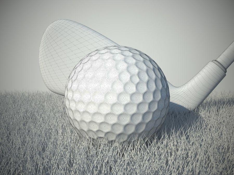 Scène de golf (herbe réaliste) royalty-free 3d model - Preview no. 2