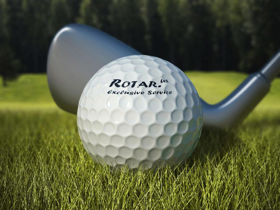 Scène de golf (herbe réaliste) royalty-free 3d model - Preview no. 1