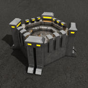 Fortification sci-fi building 3d model