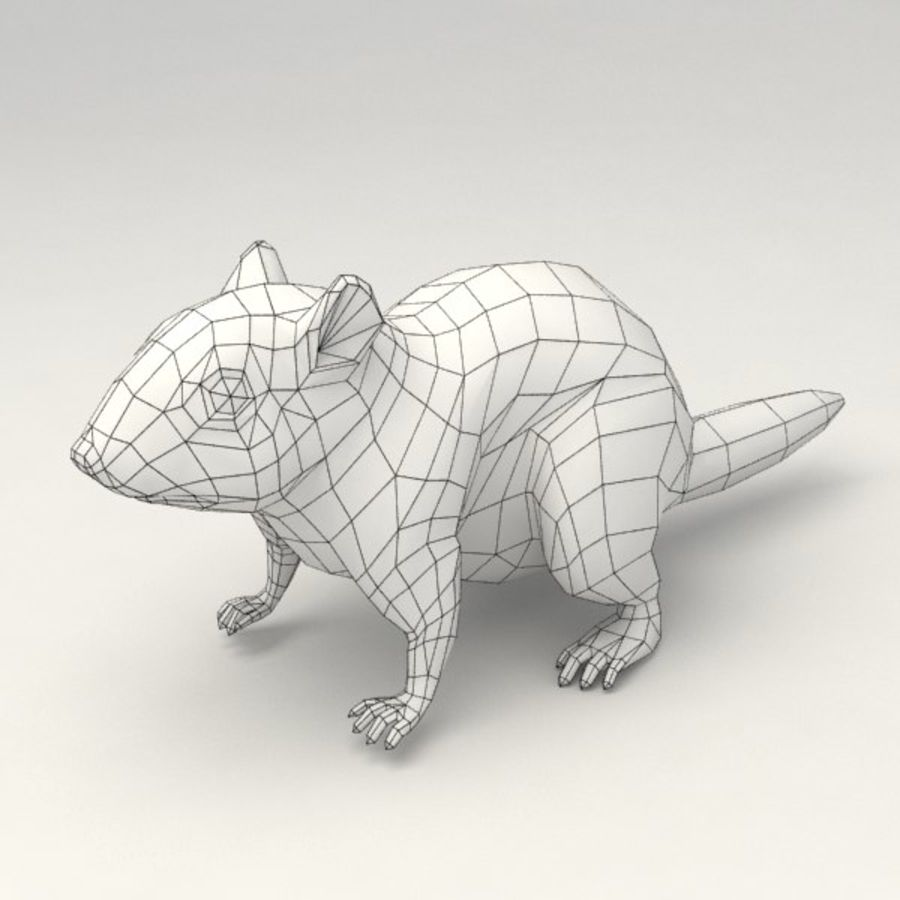 Chipmunk lowpoly model royalty-free 3d model - Preview no. 8