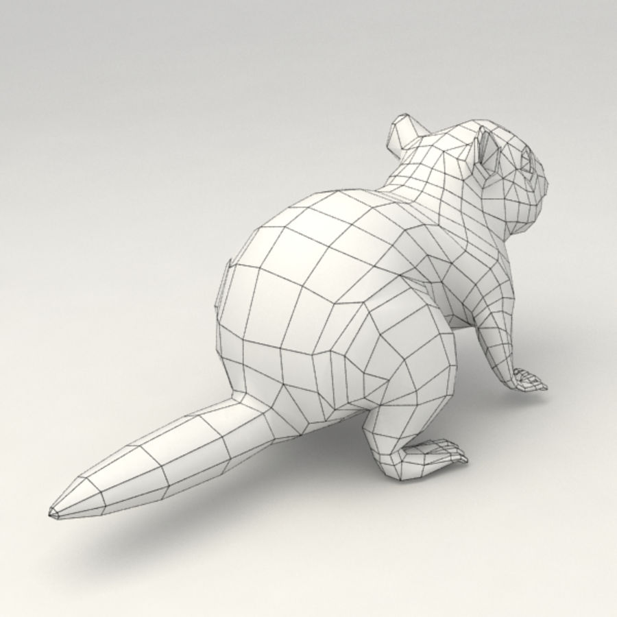 Chipmunk lowpoly model royalty-free 3d model - Preview no. 9