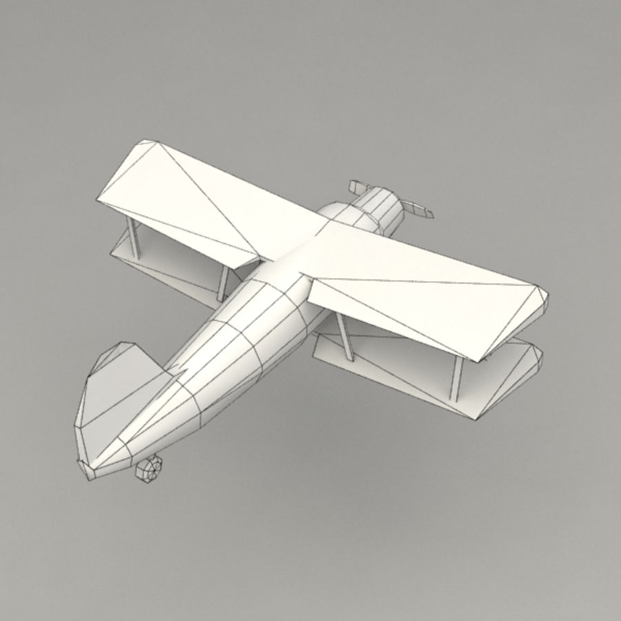 самолет royalty-free 3d model - Preview no. 8