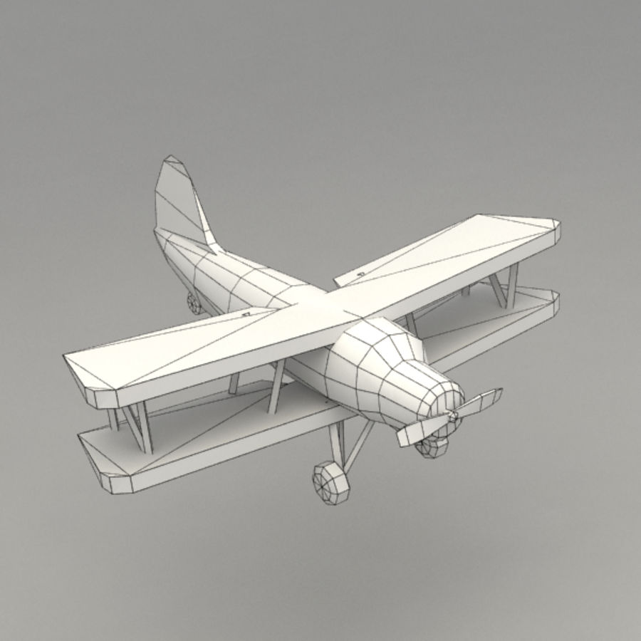 самолет royalty-free 3d model - Preview no. 7