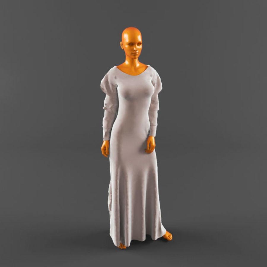 웨딩 드레스 -3 royalty-free 3d model - Preview no. 8