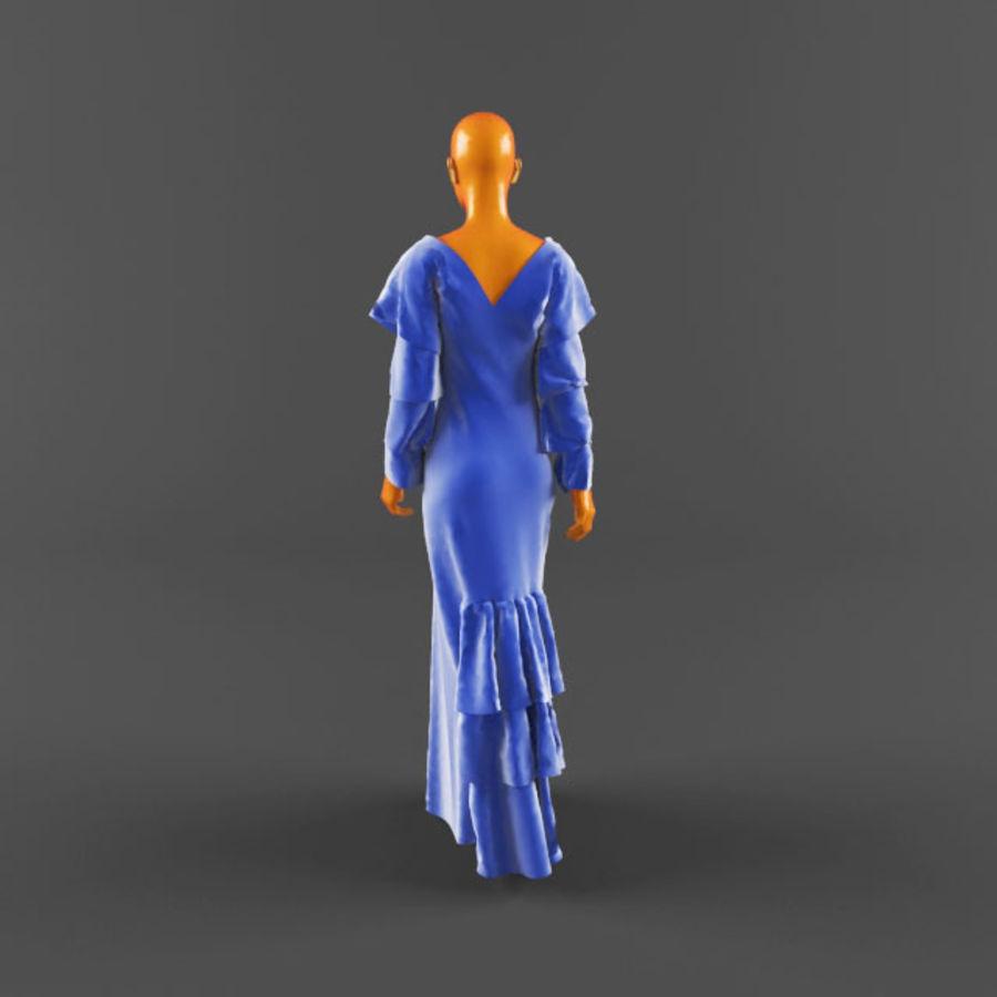 웨딩 드레스 -3 royalty-free 3d model - Preview no. 5