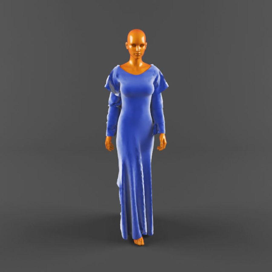 웨딩 드레스 -3 royalty-free 3d model - Preview no. 4