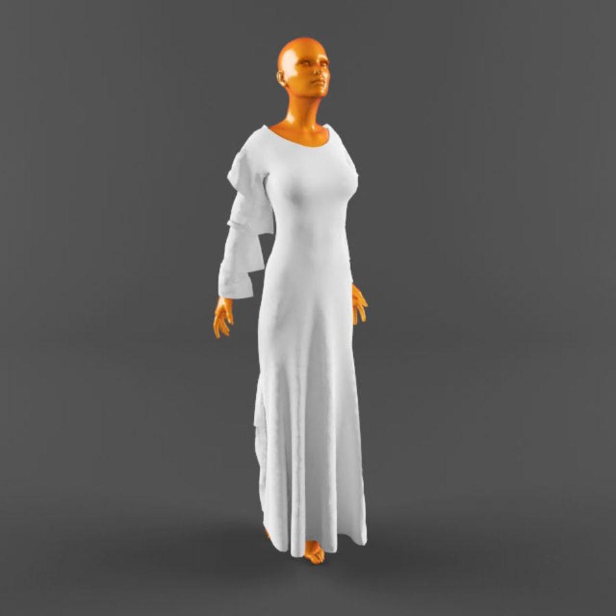 웨딩 드레스 -3 royalty-free 3d model - Preview no. 12