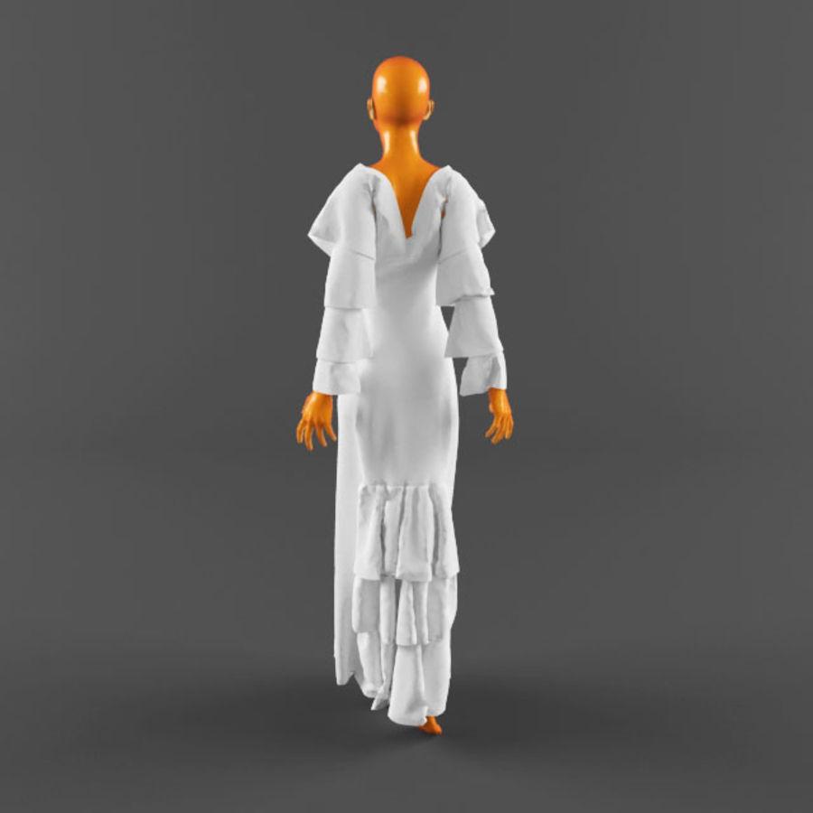 웨딩 드레스 -3 royalty-free 3d model - Preview no. 13