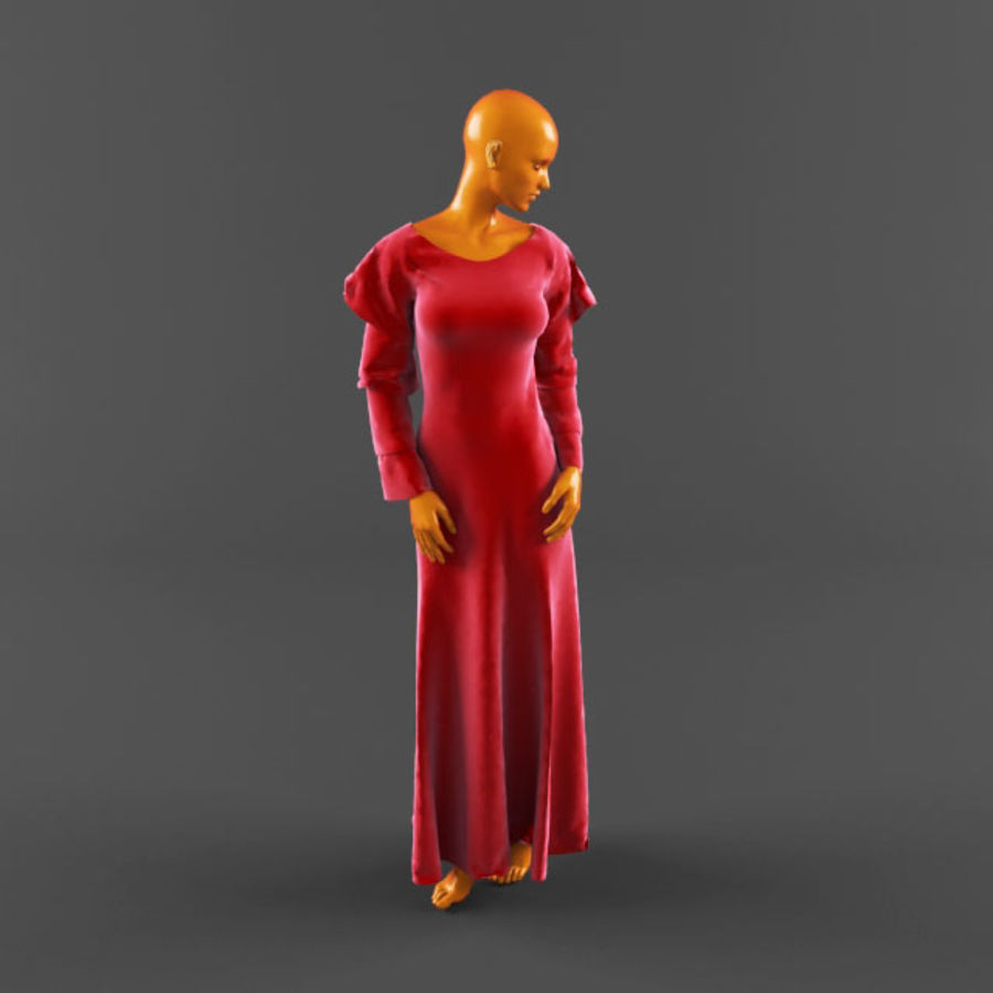 웨딩 드레스 -3 royalty-free 3d model - Preview no. 3