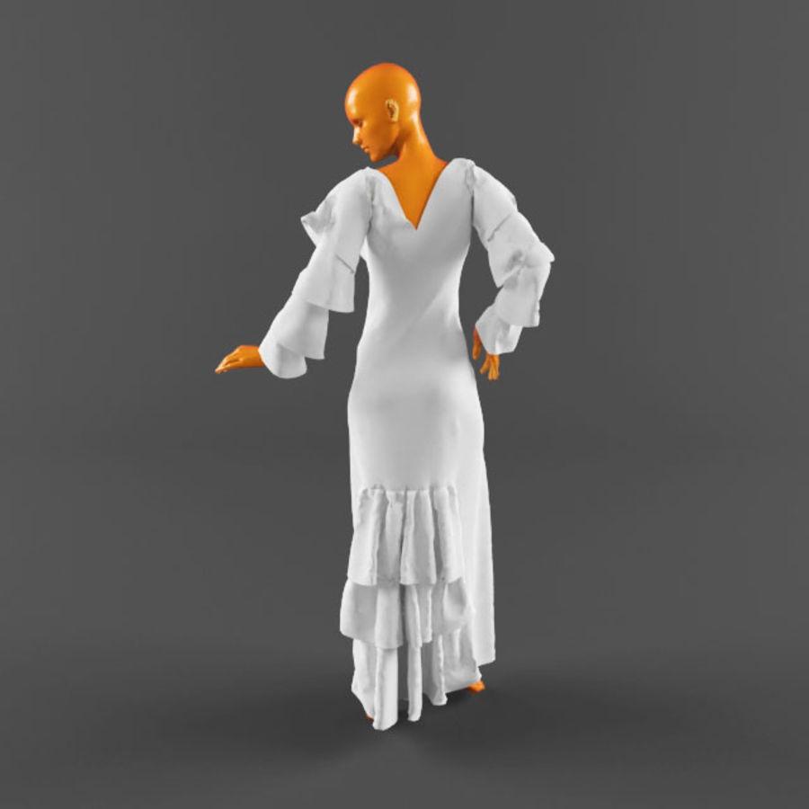 웨딩 드레스 -3 royalty-free 3d model - Preview no. 7
