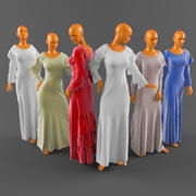 Vestido de casamento-3 3d model