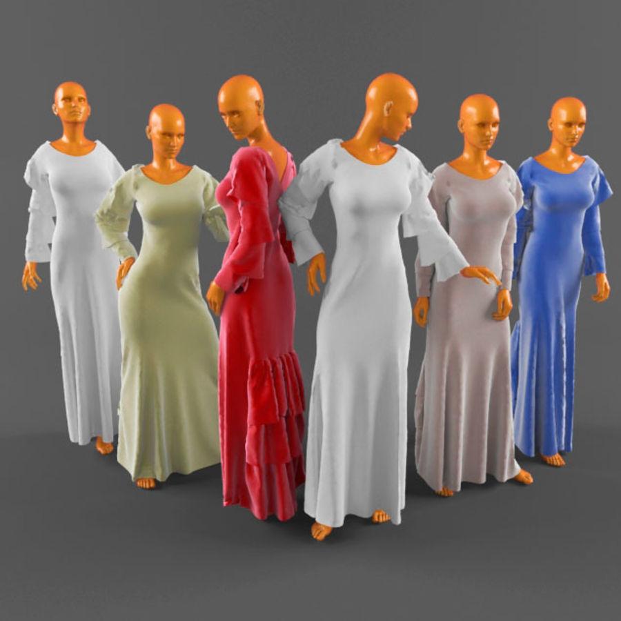 웨딩 드레스 -3 royalty-free 3d model - Preview no. 1
