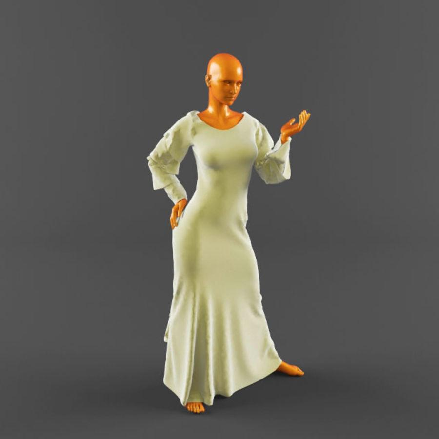 웨딩 드레스 -3 royalty-free 3d model - Preview no. 10