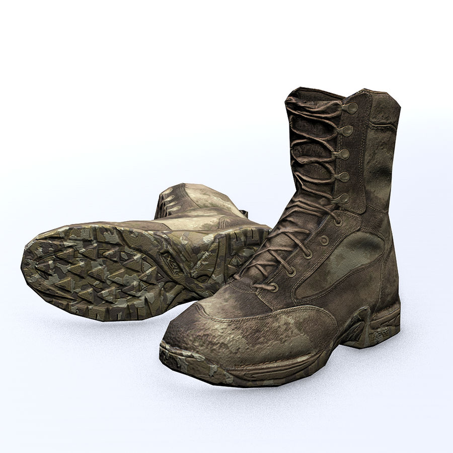 Soldier Combat Boots - Danner TFX® GTX® Uniform Boots in A-TACS Camo royalty-free 3d model - Preview no. 5